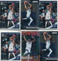 LOT (9) KARL-ANTHONY TOWNS MINNESOTA TIMBERWOLVES - 2018-19 PRIZM OPTIC - 3352