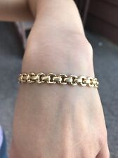"Gorgeous 14k gold bracelet Chain 9.8gm 7"" Long 1/4"" Thick $1.2K"