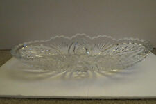 Clear Cut Glass Relish/Candy Dish/Tray  Stars, Fans