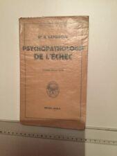 PSYCHOPATHOLOGIE DE L'ECHEC