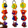 FJ- Plastic Ring String Bell Parrot Bite Play Toy Pet Bird Cage Hanging Decor Sa