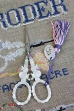 """French Sajou Scissors Mother of Pearl """"S"""" Worldwide Free Shipping"""