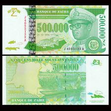 Zaire 500000 500,000 Nouveaux Zaires, 1996, P-78, UNC