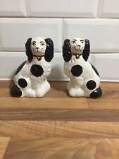 """Pair Of Ornamental Staffordshire Pottery Dogs 6.5"""" Tall"""