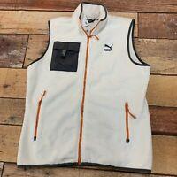 Puma XTG Trail Pocket Gilet Fleece Vest Whisper White Men's Size XL New NWT