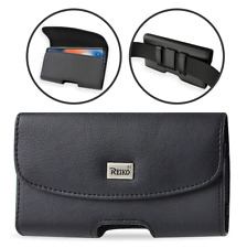 Reiko Extra Large Cell Phone Belt Clip Leather Holster Carrying Pouch Case cover