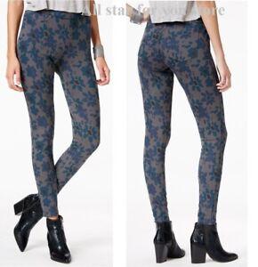 Hue Women's Leggings Mod Floral Original Denim Leggings  S , L