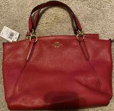 NWT Coach F28993 Small Kelsey Satchel Pebble Leather Purse Handbag True Red New