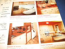 1950's Kitchens Flooring Plastics Catalog 7 Lot Retro Home Design