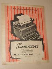 REMINGTON RAND MACCHINA DA SCRIVERE=ANNI '50=PUBBLICITA=ADVERTISING=WERBUNG=359