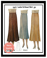 1930s Panel Skirt Sewing Pattern Reproduction