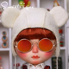 "【Tii】 12"" Blythe/pullip outfit clothe orange sun glasses doll glasses fashion"
