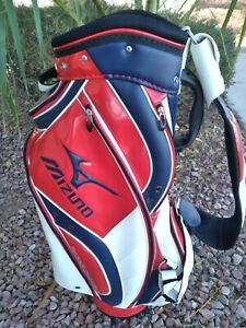 Mizuno Caddy Golf Bag - Red / White / Blue - Serious Performance - HARD TO FIND