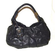 Authentic Hugo BOSS ORANGE Real Leather BLACK Large Shoulder Luxury Bag Handbag