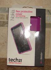 NEW Nokia Lumia 810 Tech21 Impactology Flex Protectiv Cover Case D30 DARK PINK