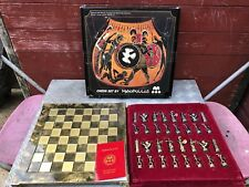 Manopoulos Chess Set Greek Mythology 540 BC Hercules with Athena Complete