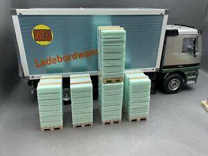 1:16.. 5 x Paletten / Europaletten mit Ladegut für z.B WEDICO LKWs  / 4R 301
