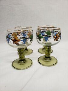 Rhine Roemer German Wine Glasses Set Of 4, Vintage wine glasses