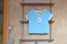 tee shirt neuf petit bateaux 3 ans raye bleu balnc noeud jaune sur le cote mode