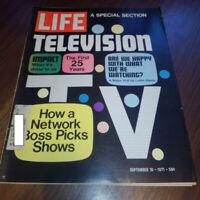 Life Magazine September 10 1971 - Television, Impact, Vietnam, Botulism, more