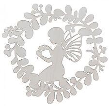 Metal Wall Decor Fairy Kneeling Baby Girl Childs Plaque ~ Nursery ~ Home Garden