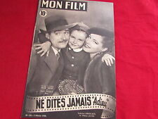 MON FILM  Magazine inc Errol FLYNN Eleanor PARKER & BRADY   02/02/1949  No 128