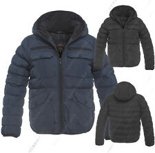 NEW BOYS Winter JACKET COAT HOODED Boy Padded Quilted AGE 7 8 9 10 11 12 13