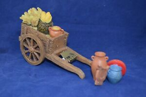 "FONTANINI ITALY 5"" HARVEST CART 2PC 2001 NATIVITY VILLAGE ACCESSORY 65033 GCIB"