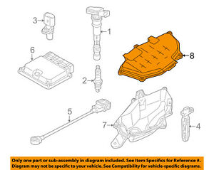 AUDI OEM 12-16 A6 Quattro 3.0L-V6 Ignition-Cover 4G1907613B