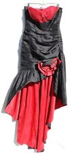 Cinderella Divine Red Tube Top Ruffle Sequin Prom Gown Gothic Dress Size 14