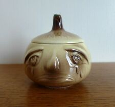 More details for sylvac onions face pot. nice example of small version. no. 5126. freepost
