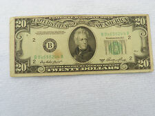 1950 A $ 20 Dollar Federal Reserve Note New York District