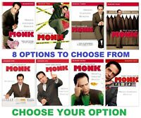 MONK - Choose Options - Seasons: 1/3/4/5/6/7/8 - Sealed - with Free Shipping !!!