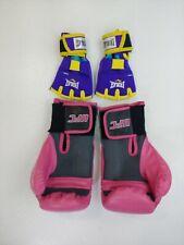 UFC 10 Oz Women's Boxing Gloves Sparring Pink + everlast evergel grappling