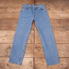 "Mens Vintage Levis 501 Red Tab 1990s Blue Denim Jeans USA Made 34""x 32"" R7366"