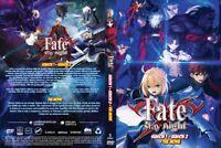 Fate/stay Night (Season 1 & 2 + Movie) ~ All Region ~ Brand New~ English Version