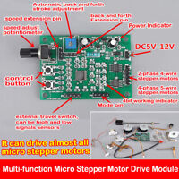DC 5V-12V 6V 2-/4-phase Micro Stepper Motor Driver Speed Controller Board Module