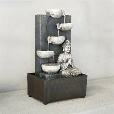 25cm Tall Water Feature Fountain Zen Buddha Calm Peace Relaxation Indoor