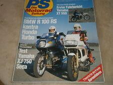 PS Die Motorrad Zeitung 01/1982 BMW R 100 RS , Honda Turbo, Yamaha XT 550,XJ750