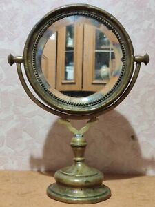"RARE antique table mirror Warsaw Poland.""WARSZAWSKA FABE PLATERAW i POSREB WTR."""