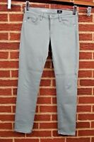 Adriano Goldschmied Womens The Stevie Slim Straight Ankle Jeans Sz 27 Pale Green