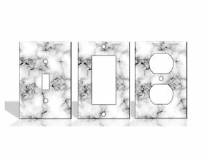 Marble White Light Switch Covers Home Decor Outlet - Faux Marble