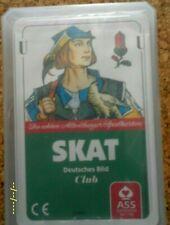 25 ASS Skatkarten Skat Blatt Club Deutsches Bild Kornblume,Spielkarten,Karten Q