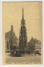 AK Nürnberg, Schöner Brunnen gegen Frauenkirche, 1929