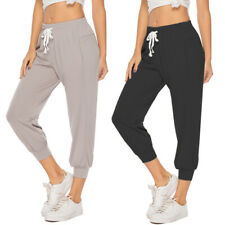 US Women Joggers Tracksuit Yoga Leggings Sport Trousers Jogging Sweat Pants R747
