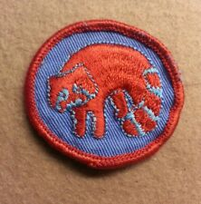 BSA  PATROL MEDALLION PATCH - RACCOON - 1972 - 1989 - PRE-OWNED    A00351