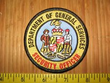 DEPARTMENT OF GENERAL SERVICES SECURITY OFFICER  - MARYLAND