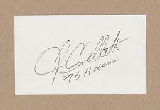 John Cappelletti signed 3x5 index card-1973 Heisman Trophy, Penn State, Rams