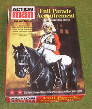 VINTAGE ACTION MAN 40th in scatola PARADE accoutrement per cavallo BAGNINO Blues