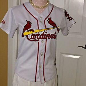 Majestic White St. Louis Cardinals Cool Base Custom Jersey